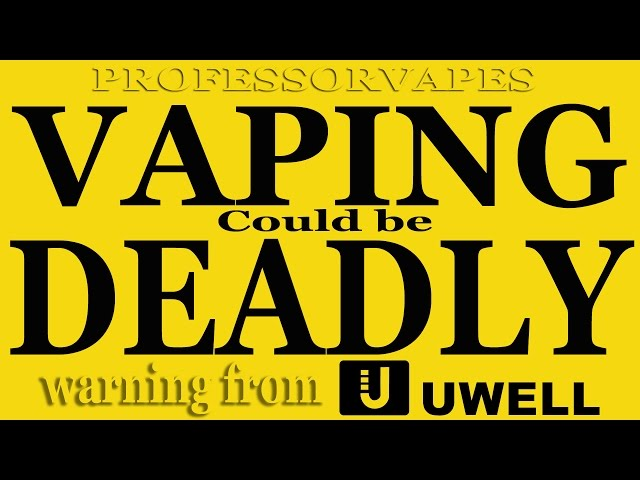 Vape Warning ceramic could be deadly warning from uwell to all vapers