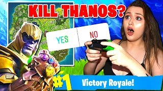 FOLLOWERS CONTROL MY FORTNITE GAME!! (*NEW* Thanos Season 4 Gameplay)