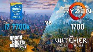 Video Ryzen 7 1700 vs i7 7700k in GTA 5 and Witcher 3 (GTX 1070) download MP3, 3GP, MP4, WEBM, AVI, FLV Oktober 2018