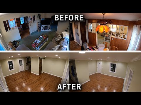 Living Room Remodel Time-Lapse Complete Gut 5 Month Renovation