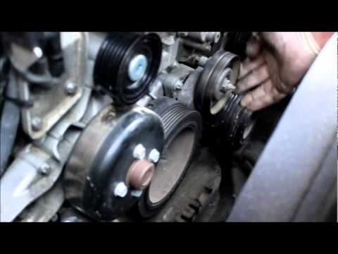 how to replace the serpentine belt and tensioner mercedes. Black Bedroom Furniture Sets. Home Design Ideas