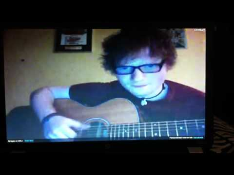 Ed Sheeran singing Holocene by Bon Iver (ustream 5/21/12)