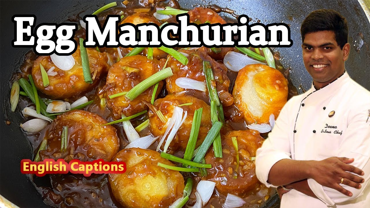 How to Make Egg manchurian Recipe in Tamil | Easy Homemade Snack | CDK #236 | Chef Deena's Kitchen