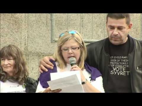 Ian Evans & Carrie Modral Speak at the Against Child Abuse Rally in London 7th Aug 2010