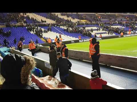 Birmingham City V QPR - Fan and Steward Altercation