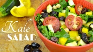 Kale Salad with Creamy Garlic Dressing | Healthy Lunch Ideas Thumbnail