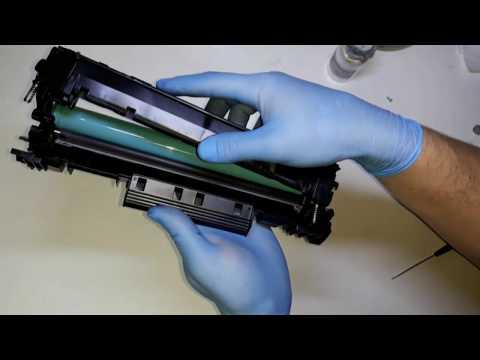 HOW TO REFILL HP 44A, CF244A TONER REFILL, RECARGA, ЗАПРАВКА