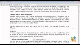 Curso de Forex - 12 de 99 - Apertura de una Cuenta y Tipos de Cuentas