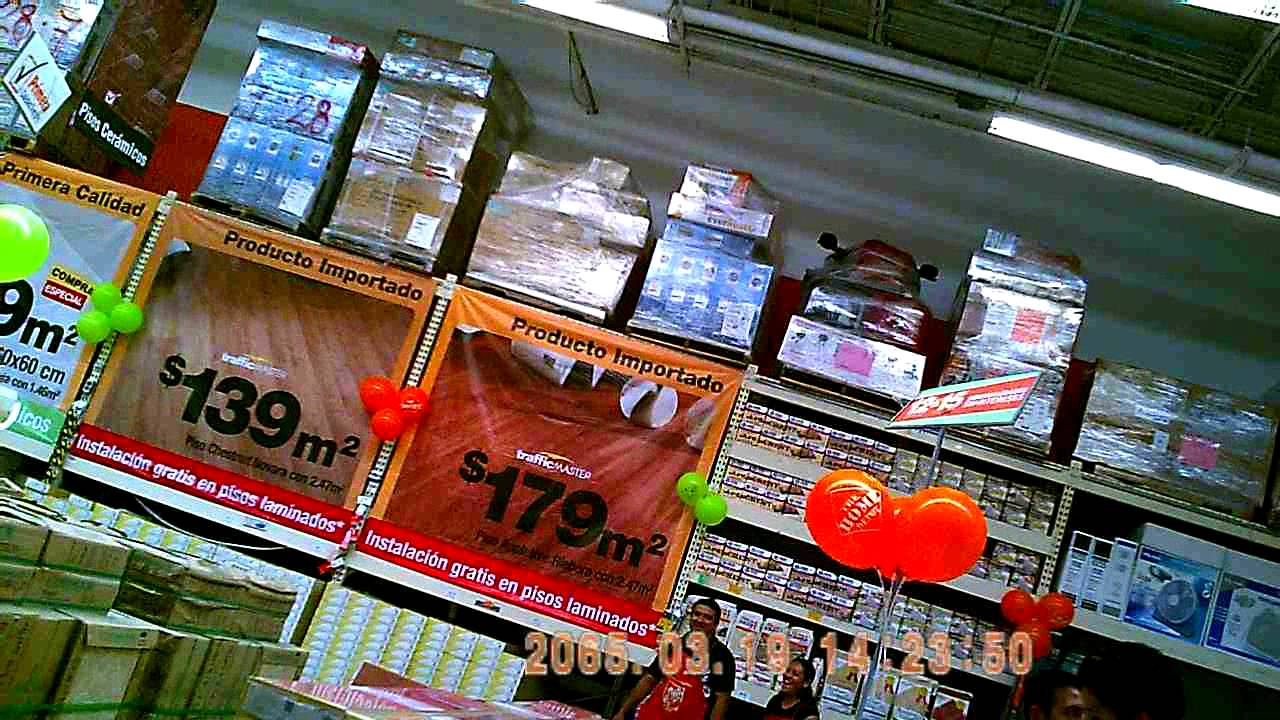 Feria pisos home depot ago 2011 youtube for Pizos y azulejos