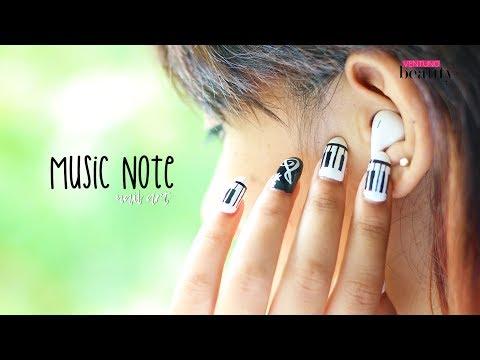 Easy Music Note Nail Art | DIY Nail Design