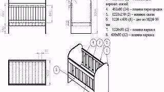 видео Чертежи столов из древесно-стружечной плиты