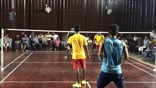   Alex/ Anurag Kidangoor v/s Jithu/ Toji Changanacherry  Badminton Tournament  