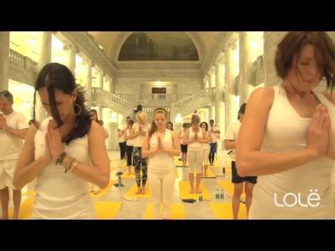 Lolë White Yoga Session  - Salt Lake City 2013