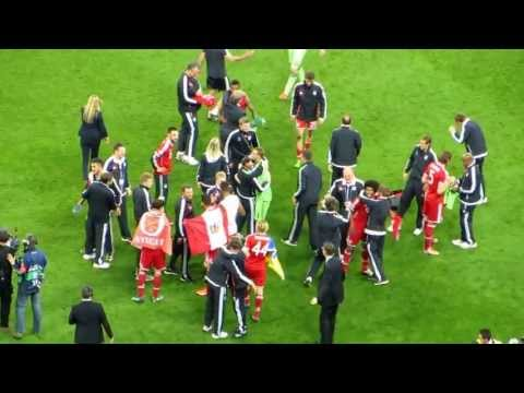 Final whistle and Bayern Munich players' celebration - UCL Final 2013