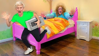 ESCAPING UNDERGROUND BUNKER with MYSTERY NEIGHBOR MONEY SAFE!! (Ellen Wakes Up)