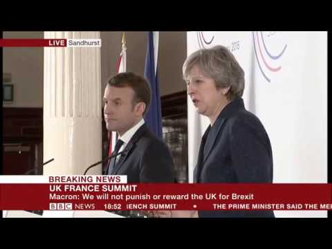 French President Macron and Prime Minister Theresa May on financial services post-Brexit