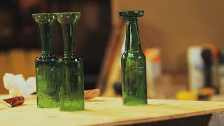 How To Make Beer Bottle Wine Glasses