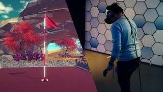 Hands-On: VR Minigolf on the HTC Vive Pre