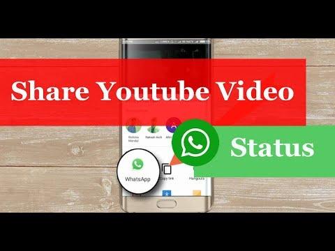 How To Set Put Youtube Video As Whatsapp Status 2018 Tricks