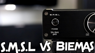 S.M.S.L SA-36A Pro Mini Amplifier vs BIEMA SPEAKERS!!