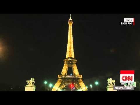 Eiffel Tower goes dark as Paris mourns