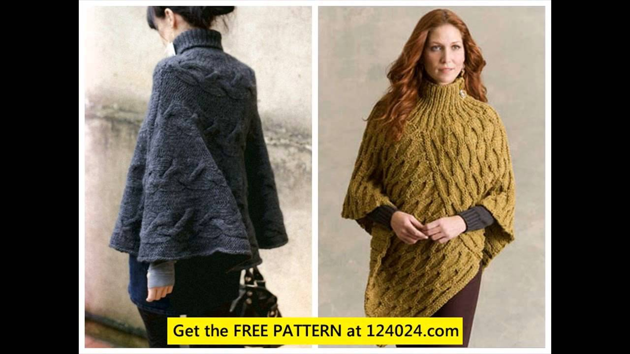 Cable Knit Poncho Poncho Knitting Pattern Youtube