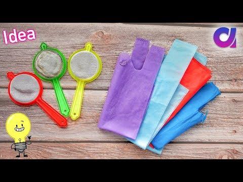 Best use of waste Strainer & fabric carry bag Craft idea | DIY Home Decor | Artkala