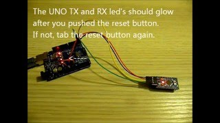 How to upload sketch to Arduino Pro mini with Arduino UNO SMD as programmer tutorial