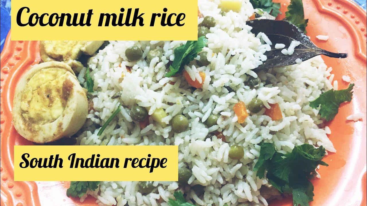 how to prepare coconut milk rice in tamil