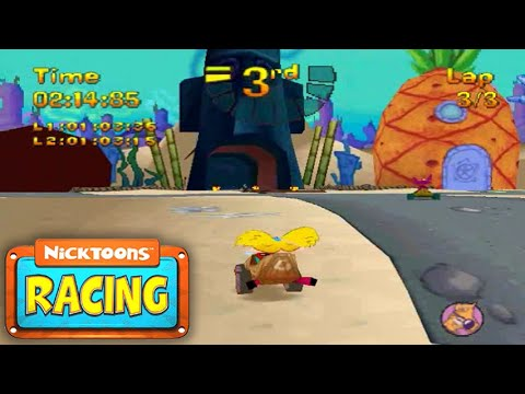 Let's Play Nicktoons Racing - 2015 Retrospective: Easy Difficulty