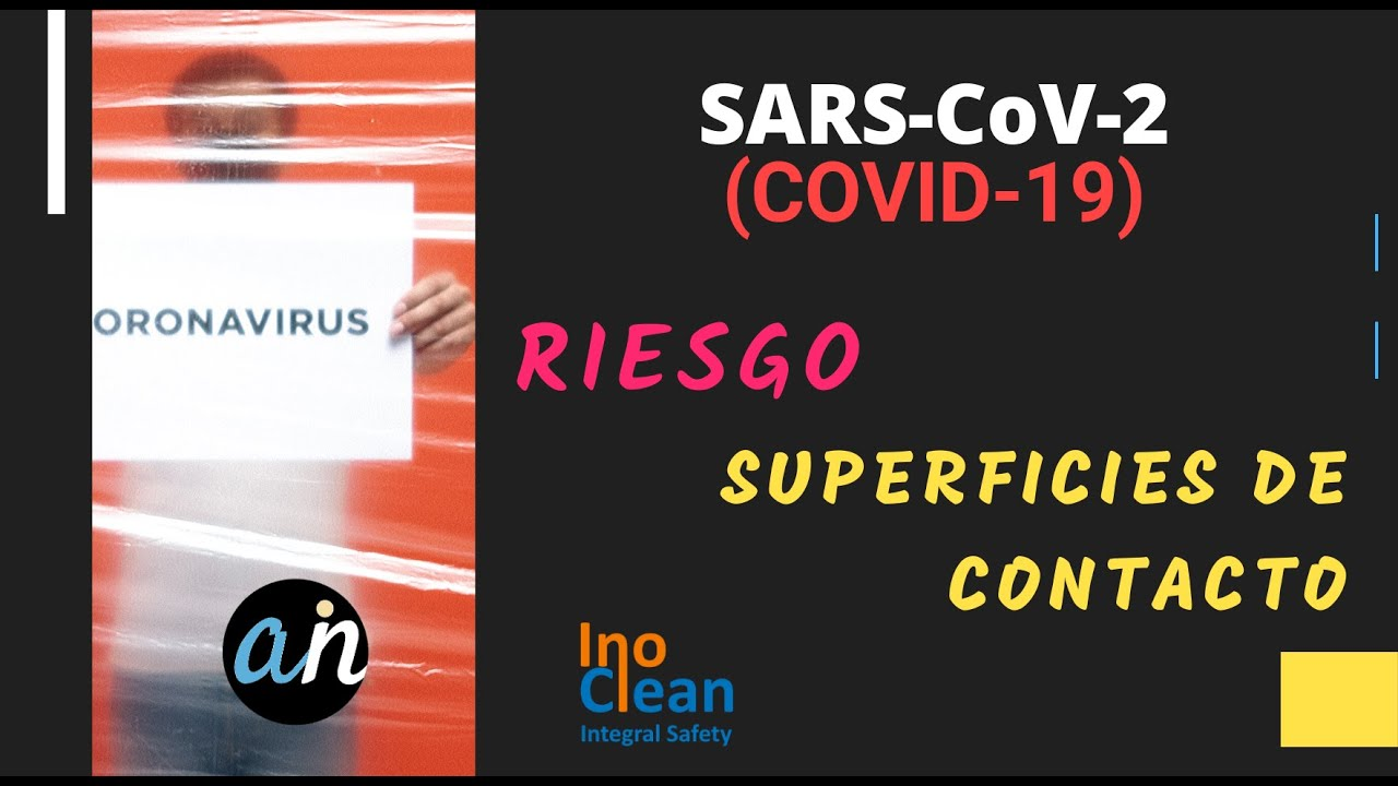 COVID-19: Nivel de riesgo de infección desde superficies de contacto