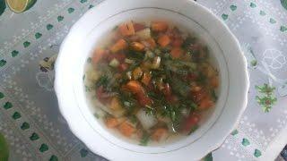 видео Овощной диетический суп