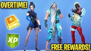 Fortnite Overtime Challenges *FREE REWARDS!* Season 9 (Free Styles!)