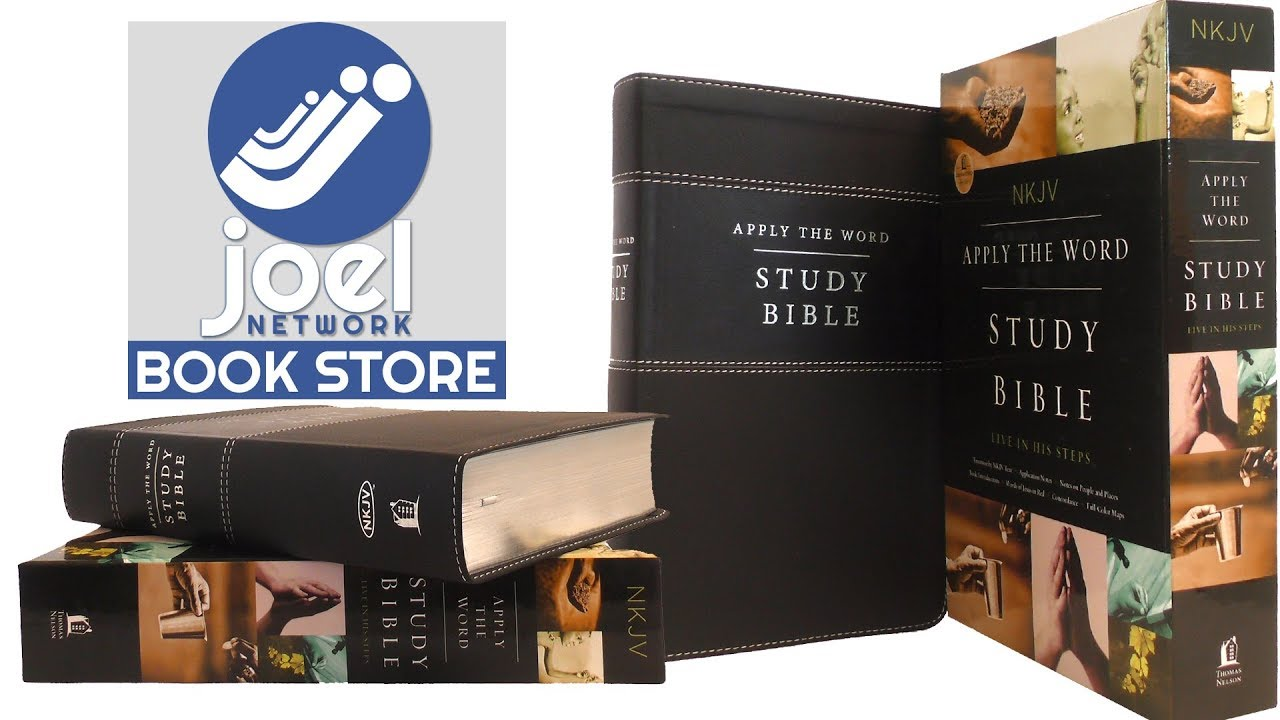 NKJV, Apply the Word Study Bible, Leathersoft, Black, Red Letter Edition  English, Leather  fine bin