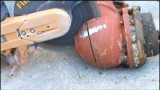The EXTRACTOR Rescue Blade™ - Cutting Fire Hydrant Pipe