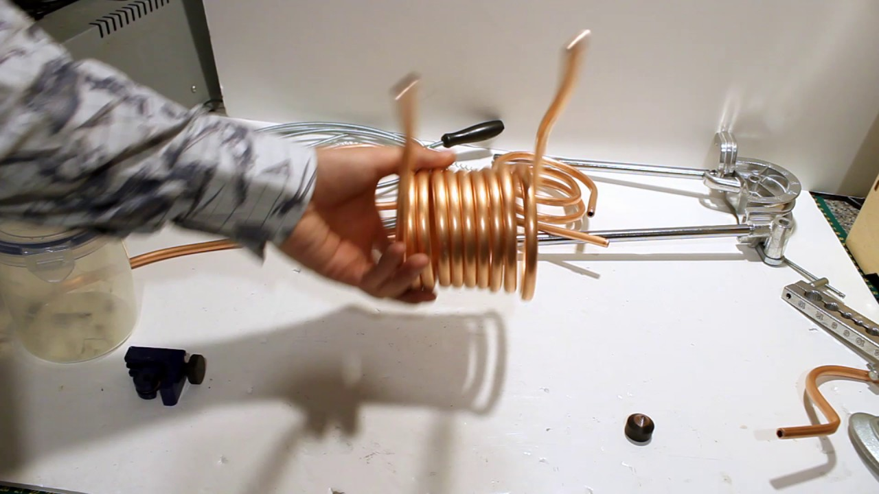The Easiest Method of How To Bend Copper Pipe into Heating Coils   Water  Heating Experiments Part 2