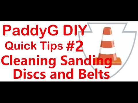 Quick Tps #2 How to Clean Sanding Discs and Bels