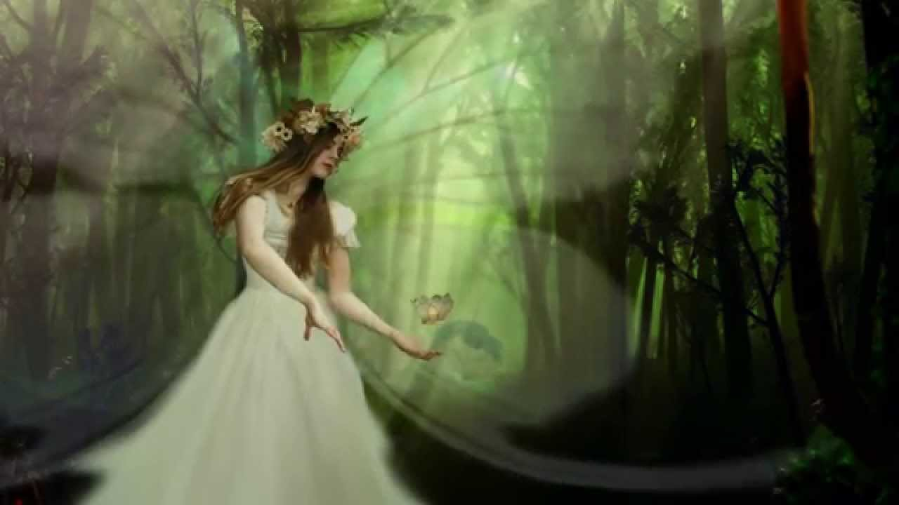 Mystical Creatures In The Fall Wallpaper Magical Fairy In The Enchanted Forest Fantasy Animated