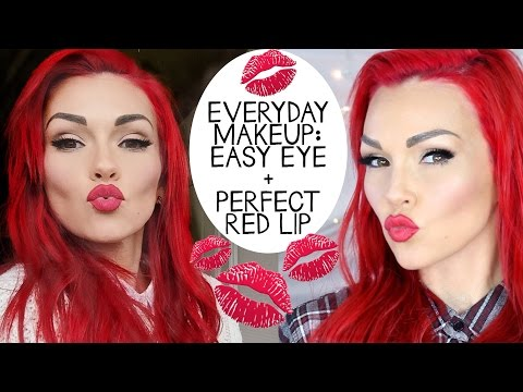 Everyday Makeup - Pretty Easy Eye Makeup & Red Lip