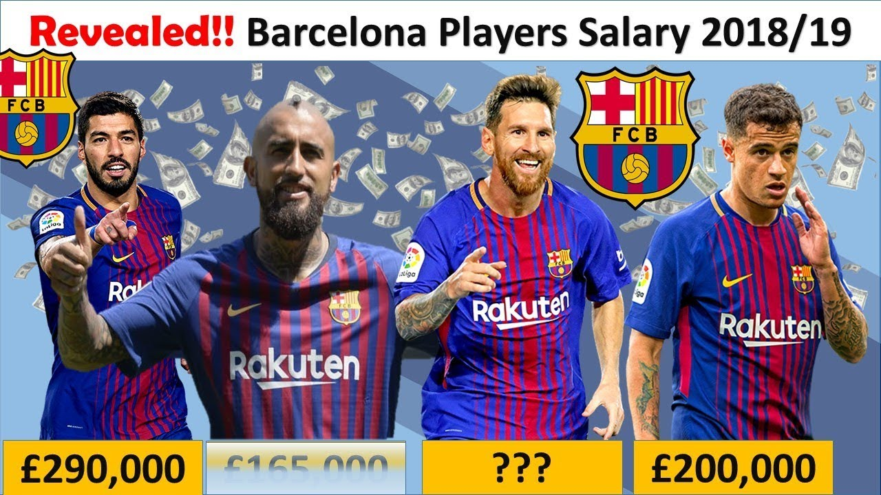 Revealed Fc Barcelona Player Salaries 2018 19 Barca Full Squad Salary Contracts Youtube