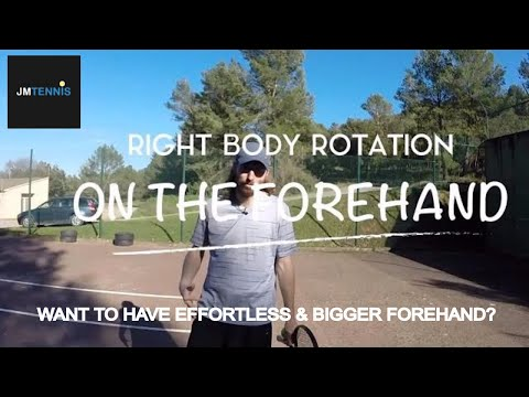 Tennis Forehand - Right Body Rotation (JM Tennis Tips #2)