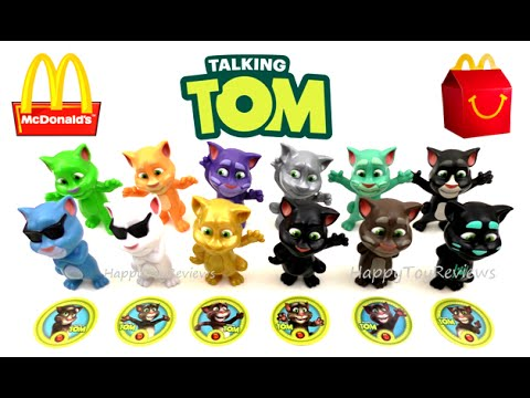 2016 Mcdonald S Talking Tom Happy Meal Toys Us Complete Set 12 Kids