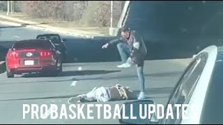 (FULL VIDEO) EX-NBA PLAYER DELONTE WEST GETS THE BRAKES BEAT OFF HIM IN THE MIDDLE OF THE HIGHWAY!