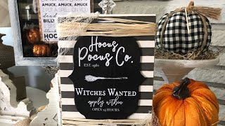 DOLLAR TREE DOLLAR STORE Halloween DIY Decor | Dollar Tree |