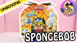 PAY DOH SPONGEBOB SQUAREPANTS SET | The Krusty Krab needs its Fry Cook | Unboxing