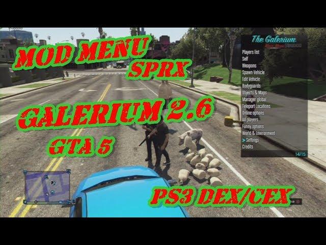 sprx mod menu gta 5 1 27