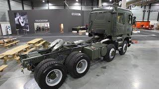 Scania R730 8x8(Scania R730 8x8 Военный тягач R730 8x8. Оснащенная 730-сильным двигателем Scania V8, эта модель специально разработана для..., 2016-04-04T06:47:26.000Z)