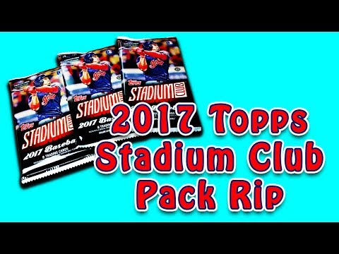 2017 Topps Stadium Club Baseball Hobby Pack Rip