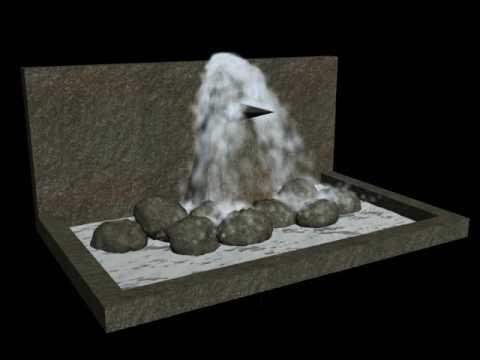 fuente de agua con d studio max