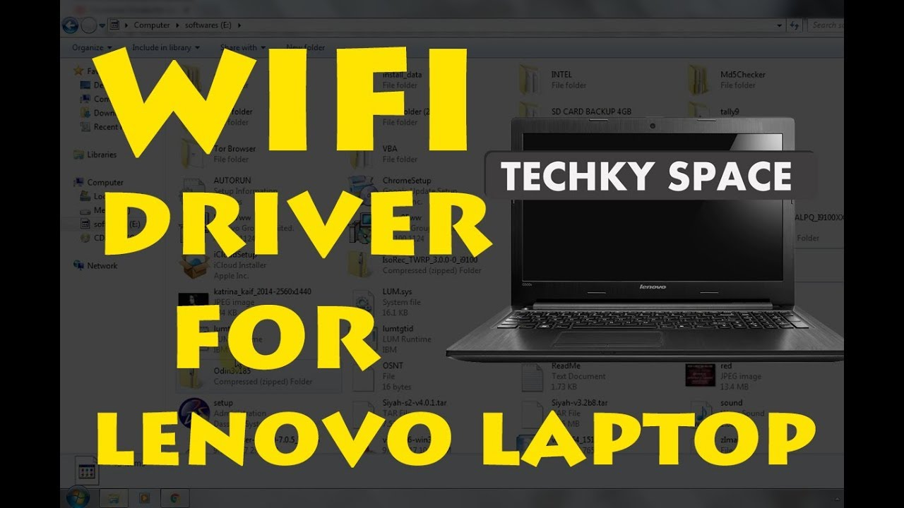 How to download wifi drivers on lenovo laptop (windows 10/8 1/8/7)